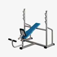 fitness supine bench 3d max