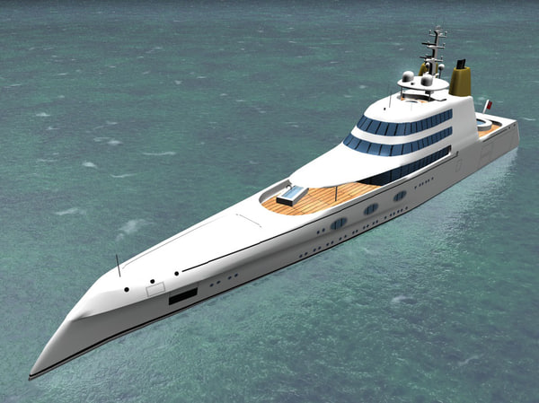 3d megayacht designed philippe model