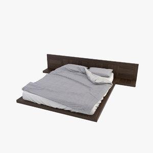 3d model of bed stripes