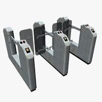 underground turnstile 3d model