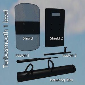 shield baton 3d model