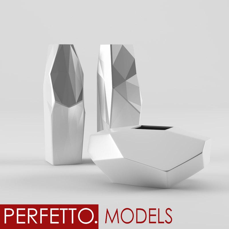 origami vase 3d dxf