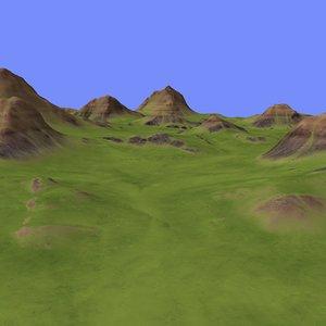 metay terrain km-01 3d max