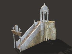 c4d old mosque platform rostrum