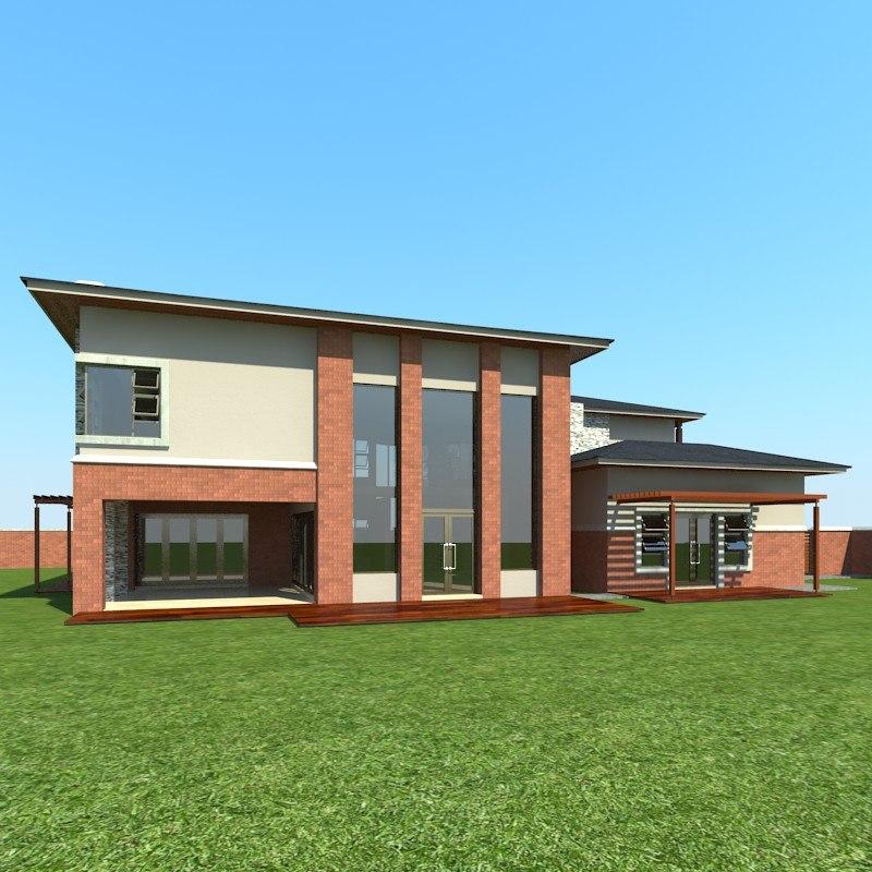 3d house designed professional model