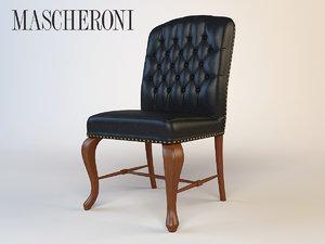 3dsmax luxury armchair mascheroni
