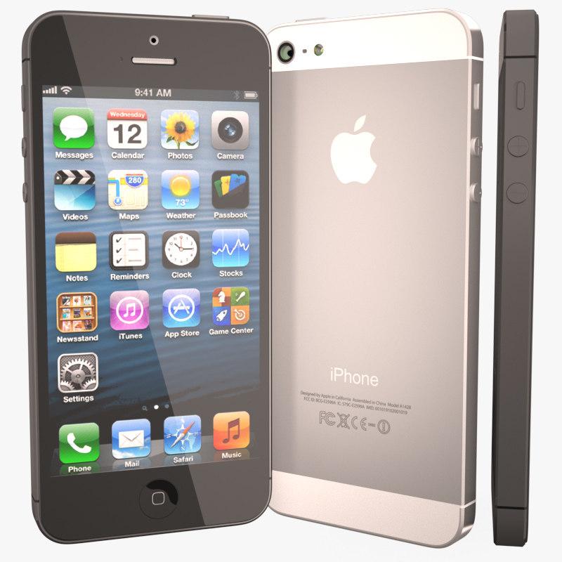 apple iphone 5 3d obj