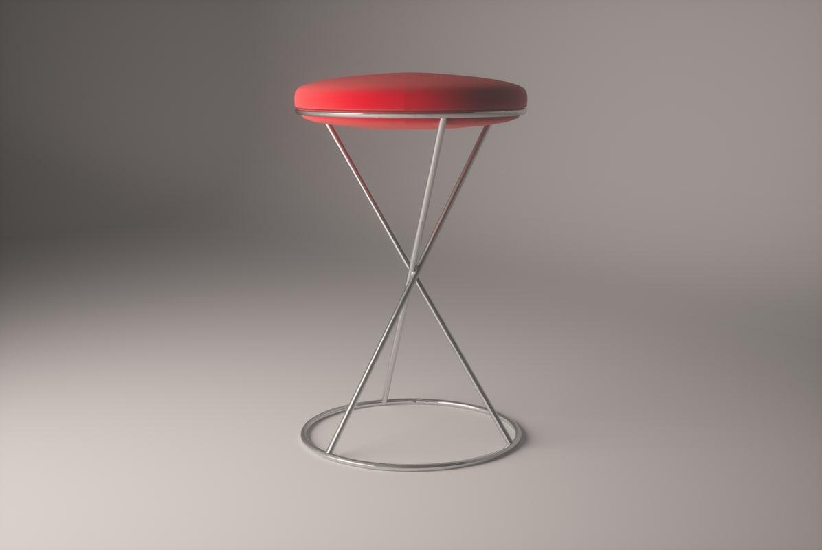 stool kitchen office 3d 3ds