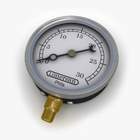 Steam train engine pressure gauge