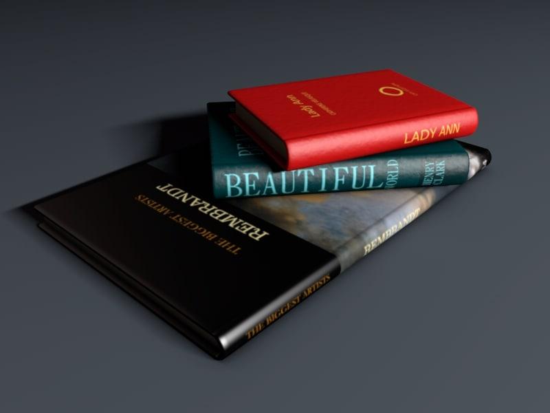 books good exclusive 3d model