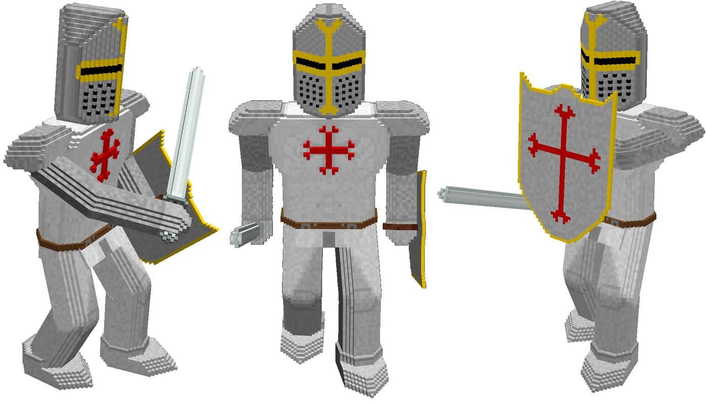 shield templar knight 3d model