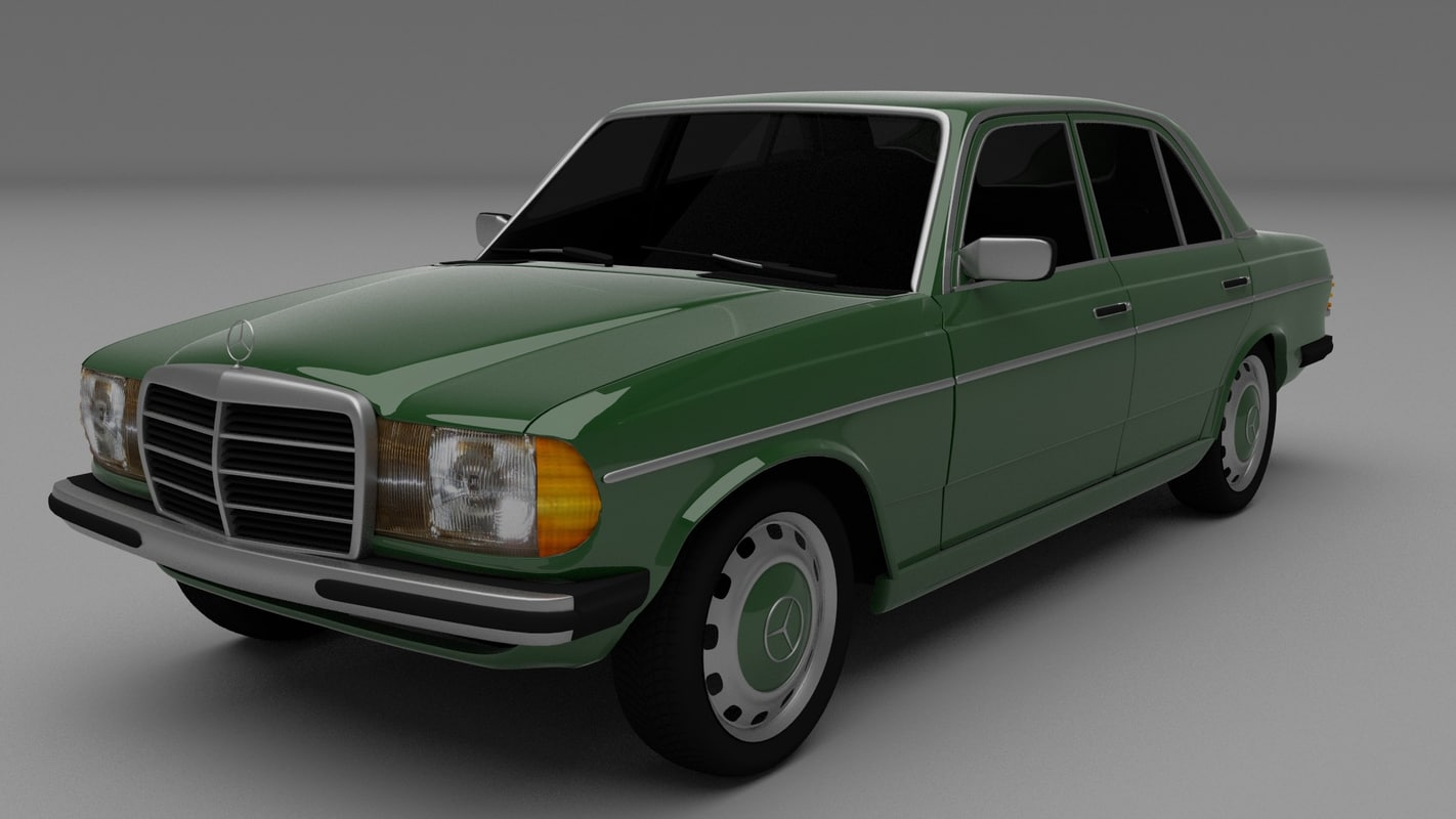 3d mercedes w123 model. Black Bedroom Furniture Sets. Home Design Ideas