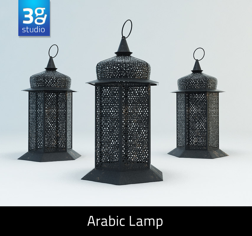 arabic lamp 3d model