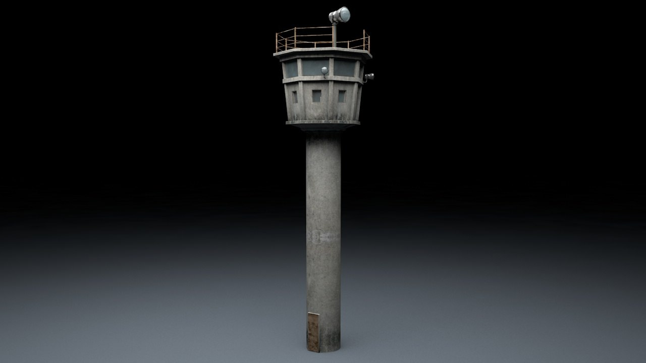 3d model berlin wall guard tower