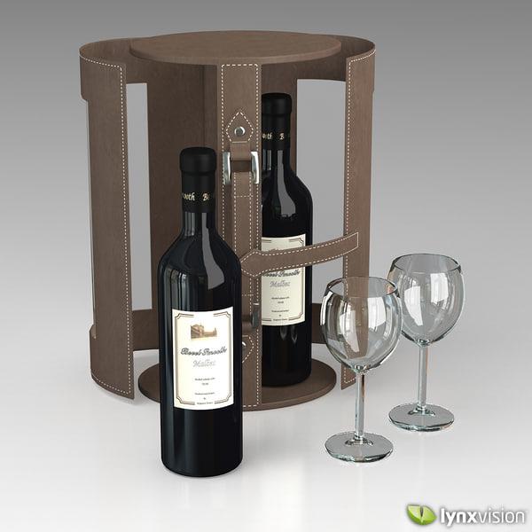 wine set case 3d model