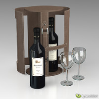 Wine Set with Case and Glasses