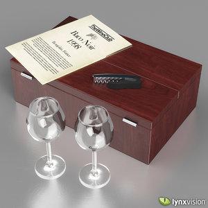 wine set wooden box max