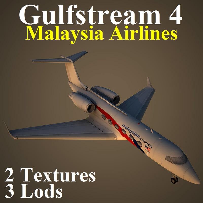 3d model gulfstream 4 mas