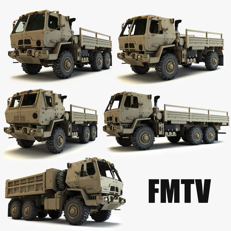 fmtv military trucks 3d model