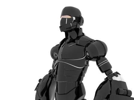 3ds max rigged mech robot