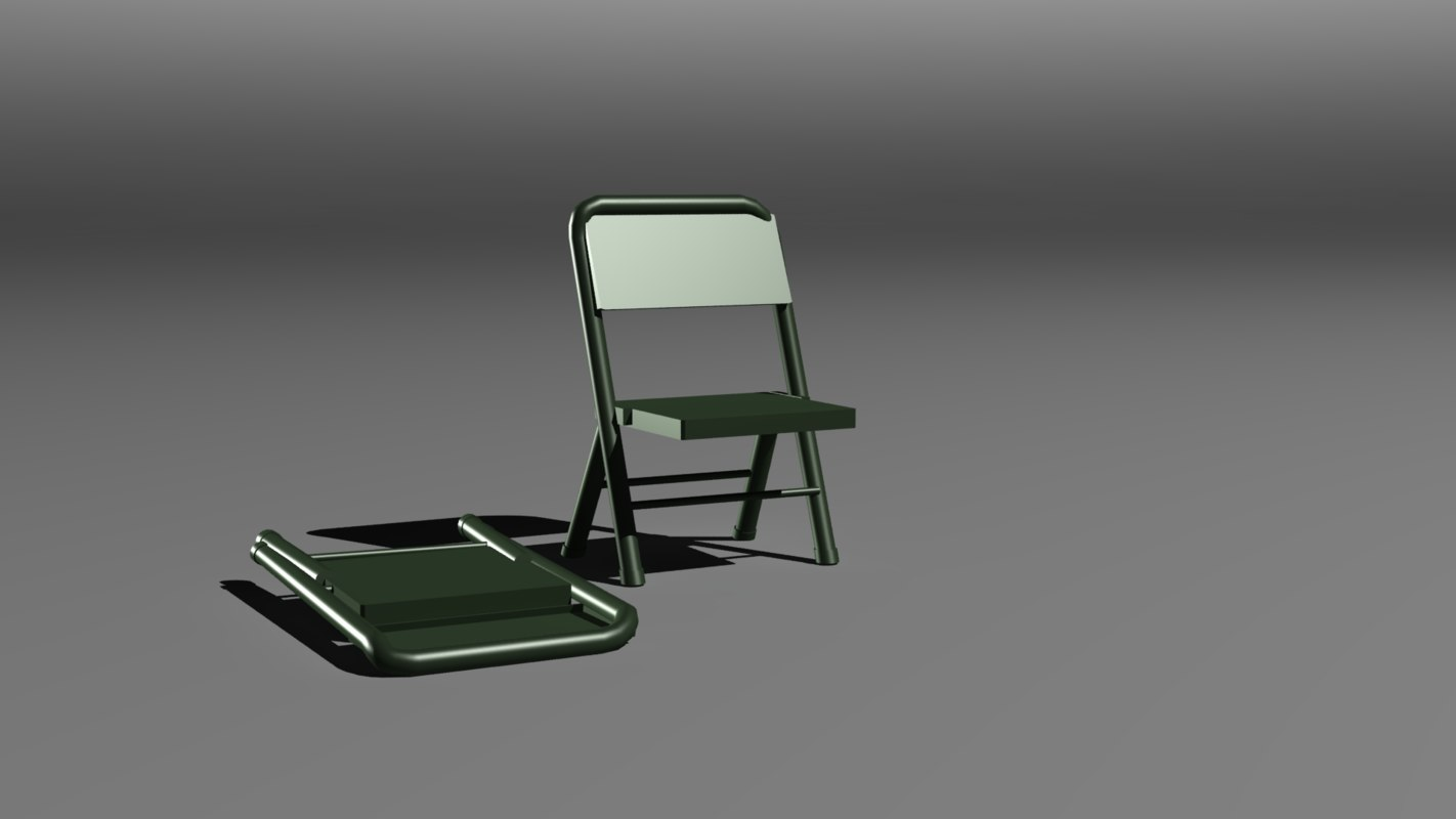 3ds max army chair