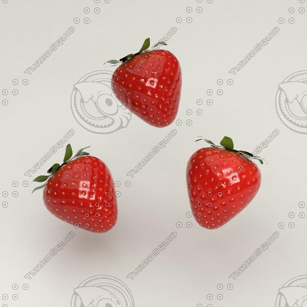 realistic strawberry 3d x