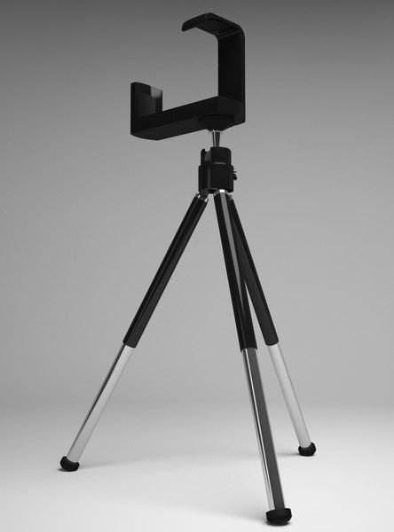 3d mobile phone mini tripod model