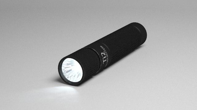 3d thrunite ti2 flashlight model