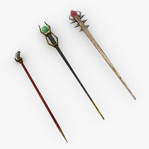 staffs games 3d model