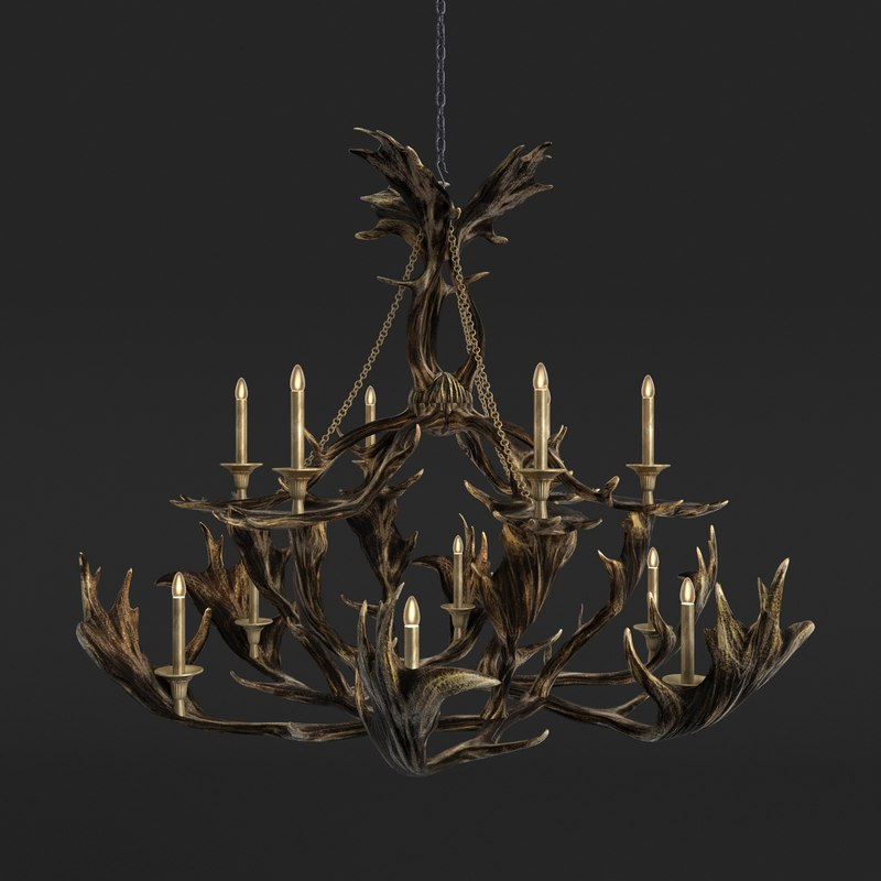 3ds max faux chandelier theodore alexander