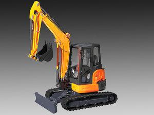 3d mini excavator kubota u48 model