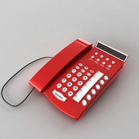 3d model phone telephone