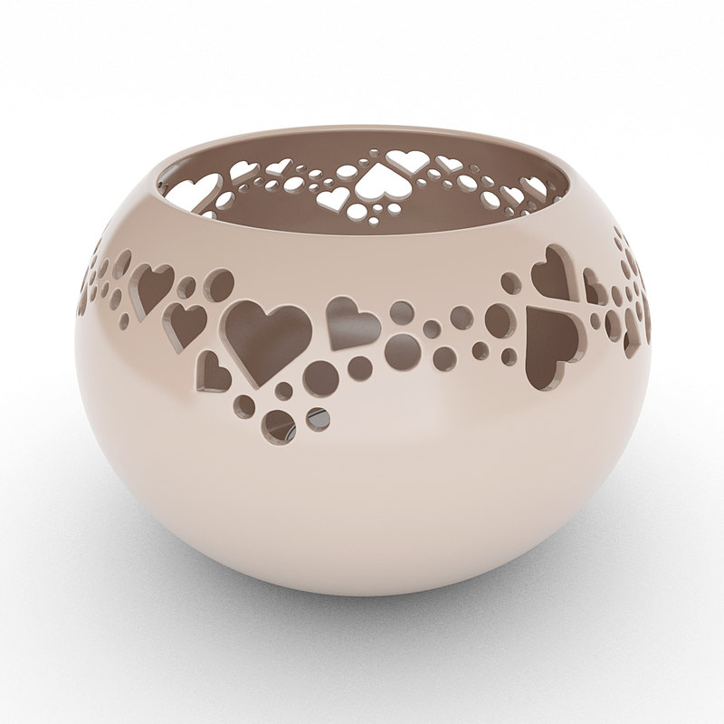 3d model tealight holder