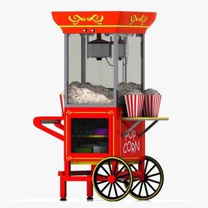 popcorn pop corn 3d model