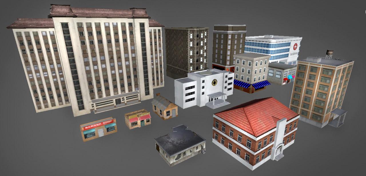 city building 3d fbx