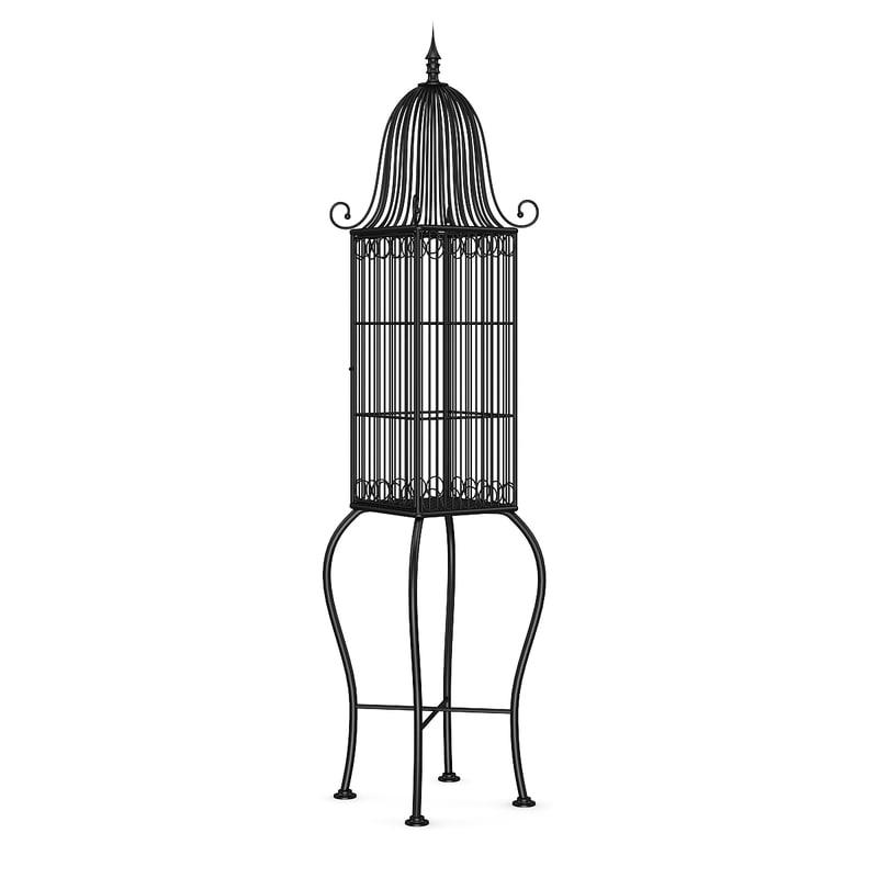 black bird cage 3d model