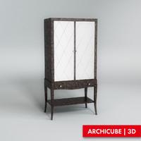 showcase case 3d model