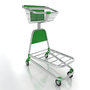 3ds max airport trolley