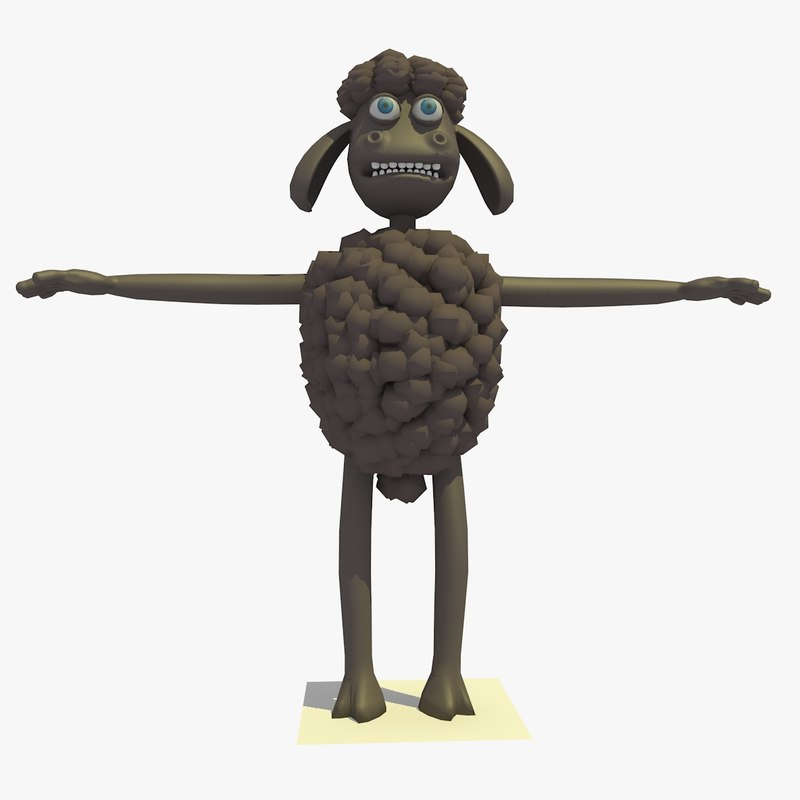 black sheep cartoon 3d model