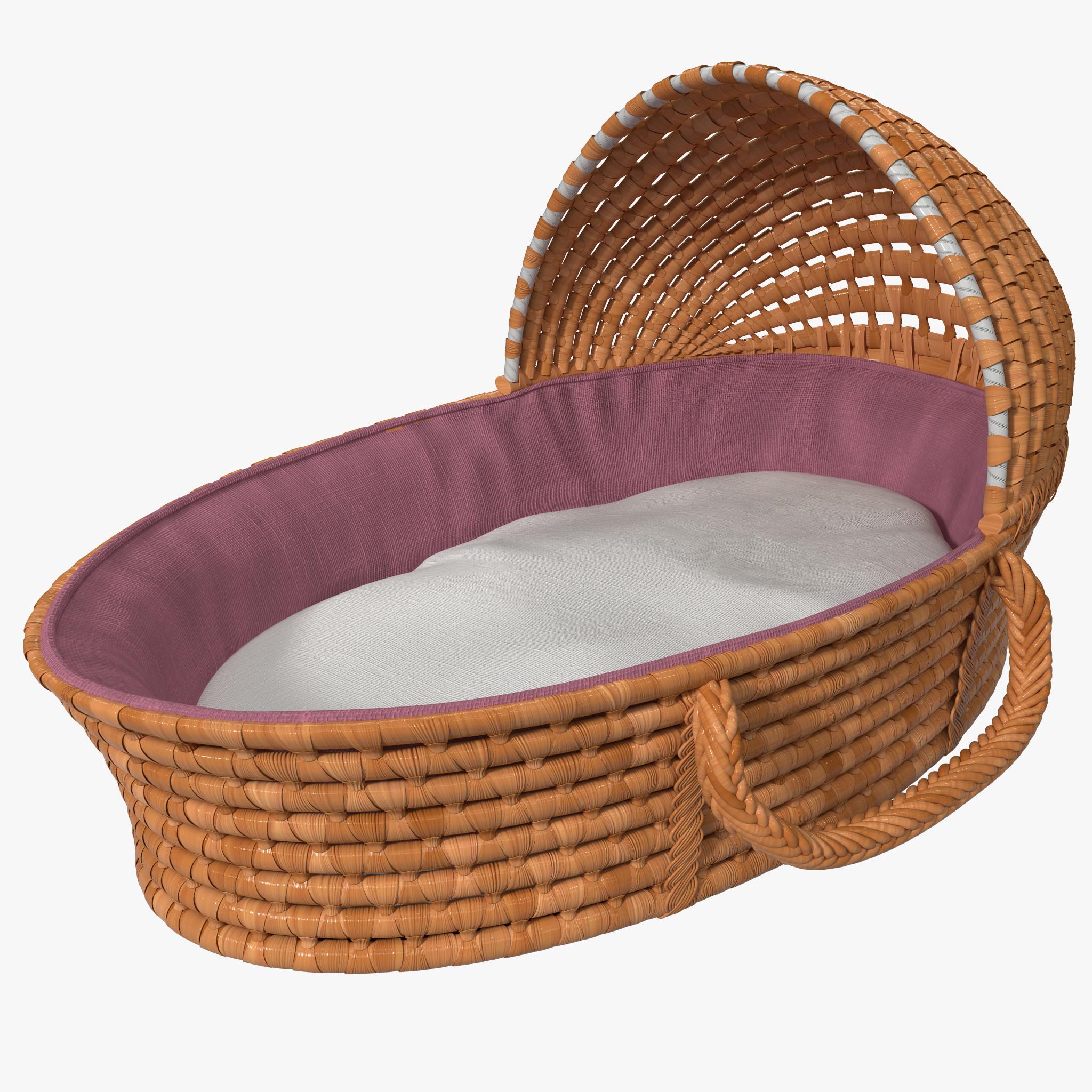 3d model badger basket hooded moses