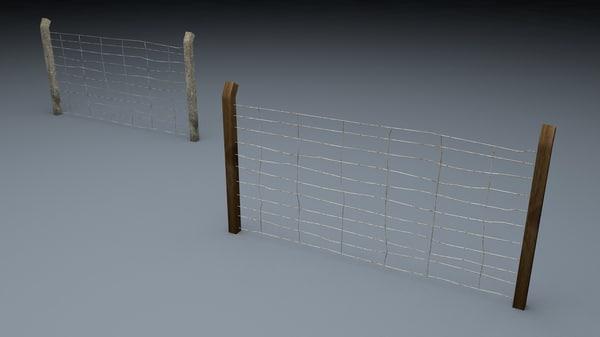 3d berlin wall old fence model