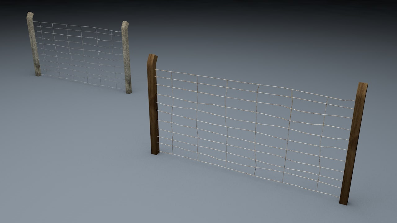 3d berlin wall old fence model