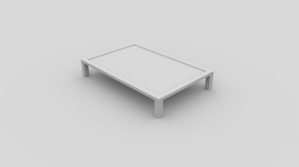 clean simple coffee table 3d model