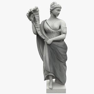 maya cornucopia statue