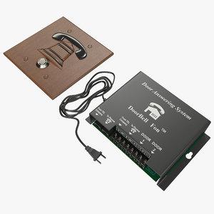 doorbell fon 3d model