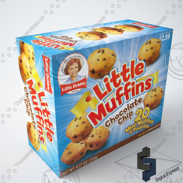 little debbie muffins 3d model