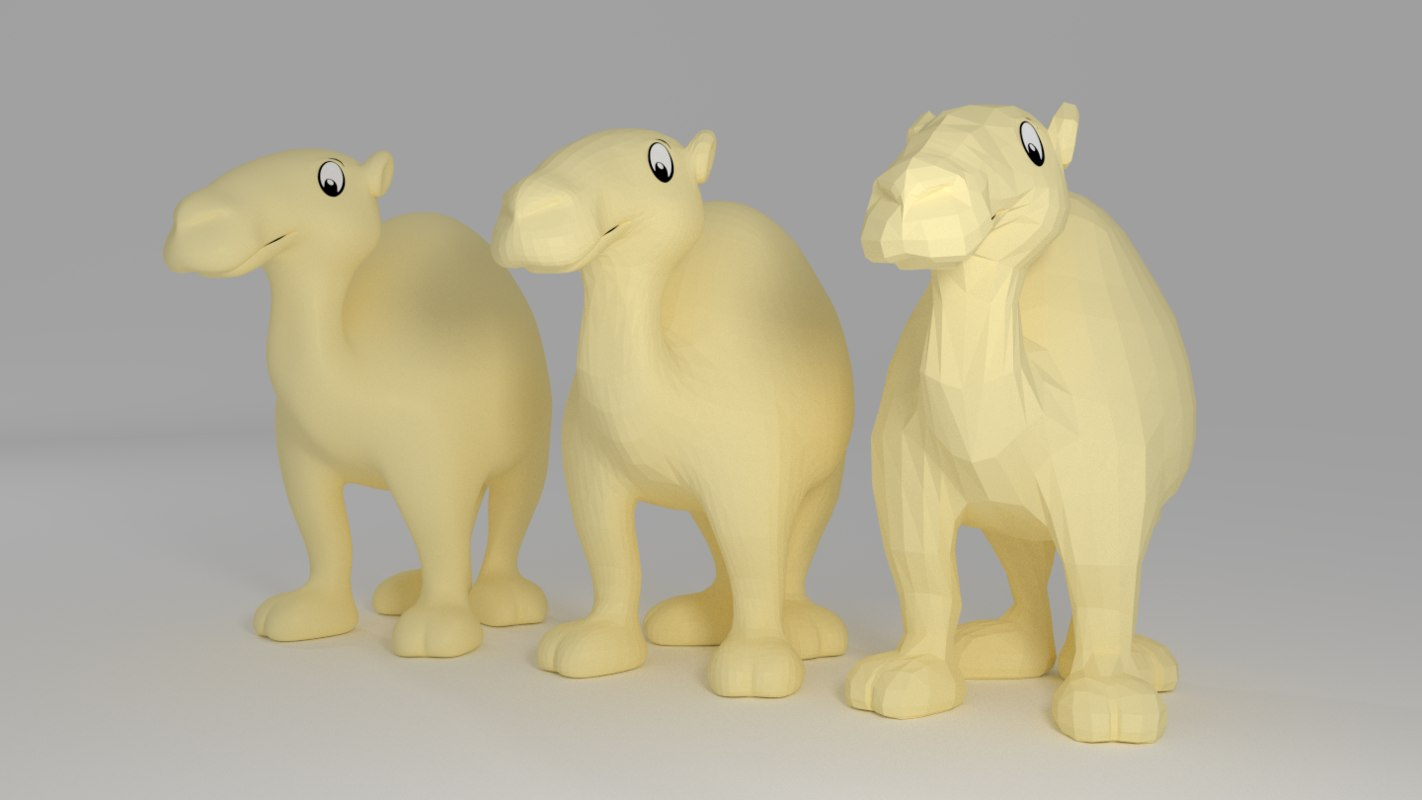 3d model cartoon camel
