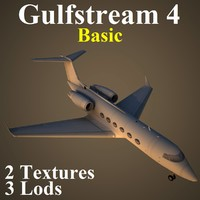 gulfstream 4 basic 3d model