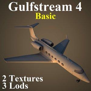 gulfstream 4 basic 3d model