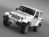 jeep wrangler 2011 3d model